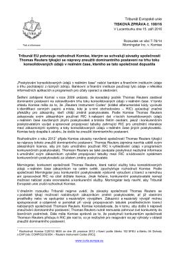 Tribunál EU potvrzuje rozhodnutí Komise, kterým se schvalují