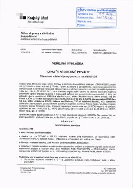 Stanovení přechodné úpravy provozu na silnici I/35 v obci Rožnov