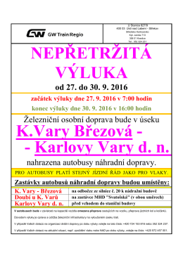 .- Karlovy Vary d. n. K.Vary Březová