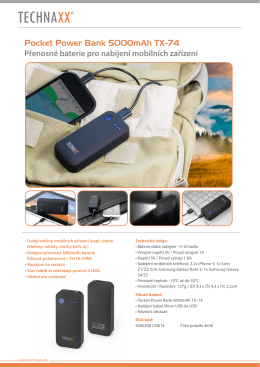 Pocket Power Bank 5000mAh TX-74 CZ