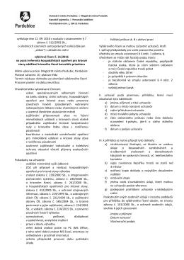 Podmínky výběrového řízení č. 21/2016
