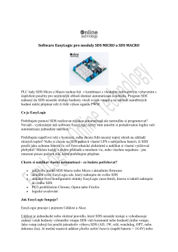 Software EasyLogic pro moduly SDS MICRO a