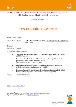 DEN KUKUŘICE KWS 2016