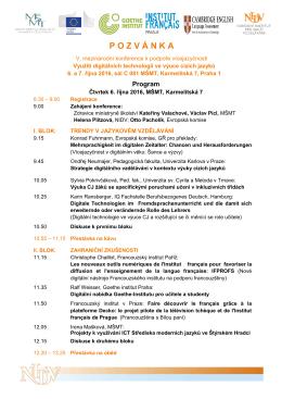 Konference CJ_6. - 7. 10 2016_program