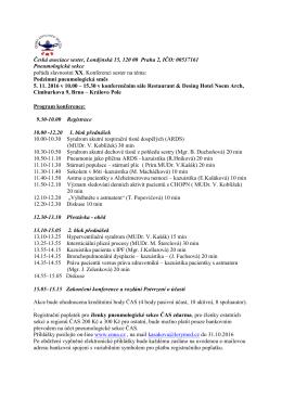 Program - Česká asociace sester