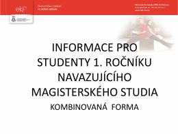 osobní číslo studenta - EKF