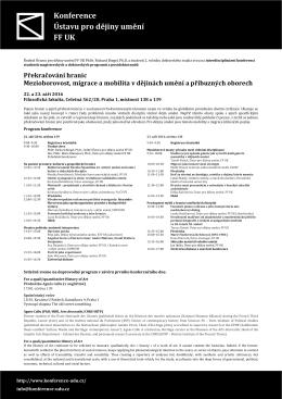 Konference Ústavu pro dějiny umění FF UK