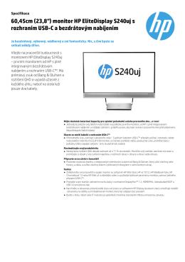 "60,45cm (23,8"") monitor HP EliteDisplay S240uj s rozhraním USB"