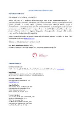 Pozvánka v PDF - Česká kardiologická společnost