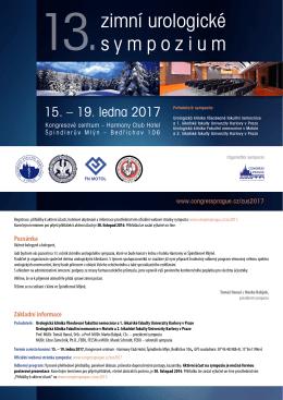 13. zimní urologické sympózium