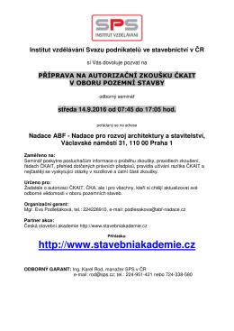 více informací - Svaz podnikatelů ve stavebnictví v ČR