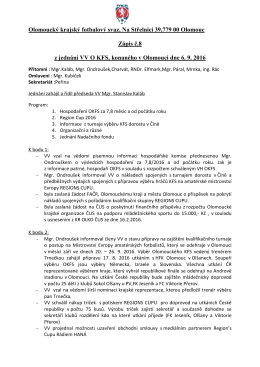Zápis VV - č.8 - Olomoucký krajský fotbalový svaz