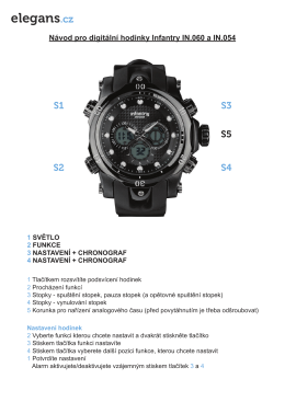 Stáhněte si manál k tomuto modelu hodinek Infantry