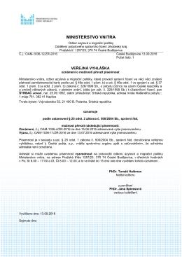 ŠTRBAĆ Jovan - Ministerstvo vnitra České republiky