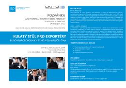 kulatý stůl pro exportéry - Svaz průmyslu a dopravy České Republiky
