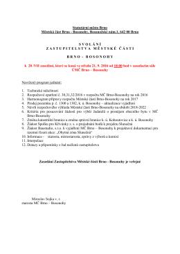 Svolání ZMČ Brno-Bosonohy