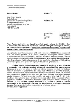 Mgr. Evžen Doležal ředitel odboru posuzování vlivů na životní