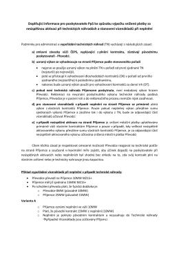 Doplňující informace pro poskytovatele PpS ke způsobu
