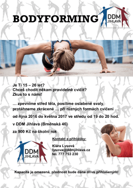 bodyforming - DDM Jihlava, po