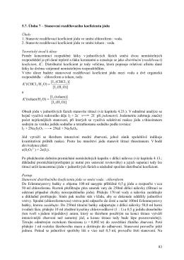 Stanovení rozdělovacího koeficientu jódu Úkoly 1. Stanovte