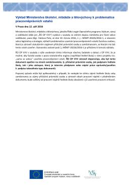 Výklad Ministerstva školství, mládeže a tělovýchovy k problematice