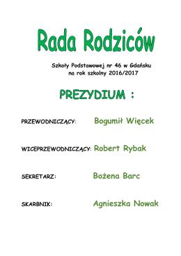 Rada Rodziców - Szkoła Podstawowa nr 46 w Gdańsku