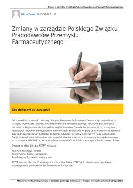 MedExpressPL-Zmiany w zarządzie Polskiego Związku
