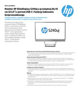 Monitor HP EliteDisplay S240uj o przekątnej 60,45 cm (23,8″)