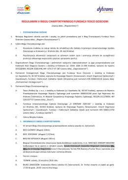 Regulamin - Fundacja TESCO