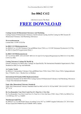 ISO 8062 CT12 | Free PDF