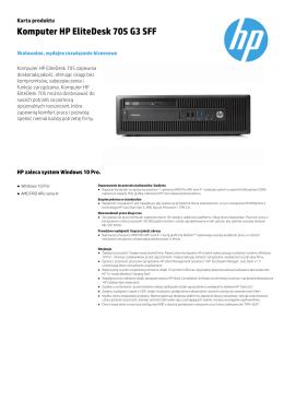 Komputer HP EliteDesk 705 G3 SFF