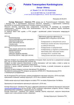 PTK X list komisji wytyczne firm 2016