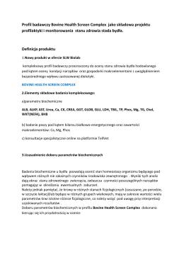 BHSC – Diagnostyczny Profil Monitorujacy