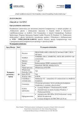 ZS.EFS.206.2011 Załącznik nr 1 do SIWZ Opis przedmiotu