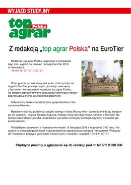 """Z redakcją """"top agrar Polska"""" na EuroTier"""