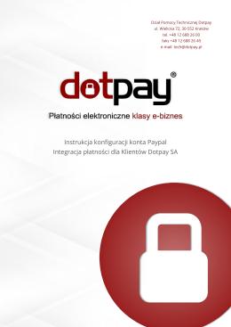 Instrukcja konfiguracji konta Paypal Integracja płatności dla
