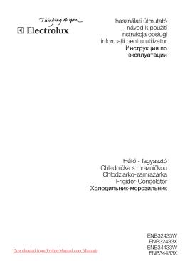 инструкцию к холодильнику Electrolux ENB 34433 W