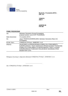 12246/16 ADD 1 kkm DGB 1B Delegacje otrzymują w załączeniu