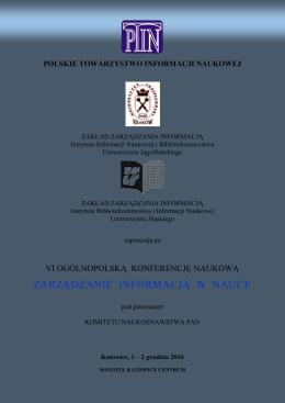 Serdecznie zapraszamy! - Polskie Towarzystwo Informacji Naukowej