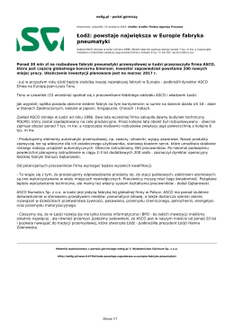 nettg.pl: Łodź: powstaje największa w Europie fabryka pneumatyki