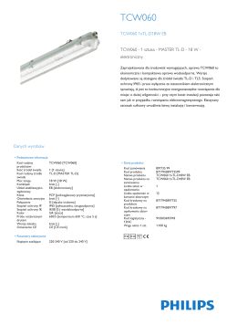 Product Leaflet: Basic waterproof TCW060, oprawa