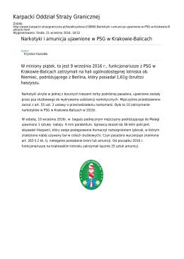 Generuj PDF z tej stronie - Straż Graniczna Karpacki Oddział Straży