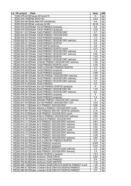 Lp. Nr pozycji Opis Ilość J/M 1 283-079