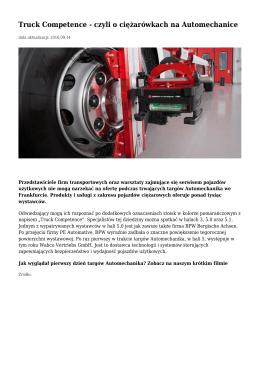 Truck Competence - czyli o ciężarówkach na