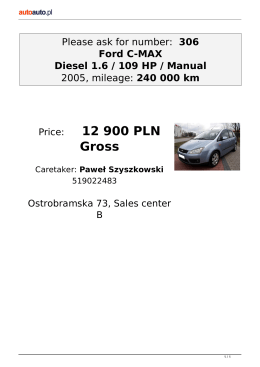 Please ask for number: 306 Ford C-MAX Diesel 1.6