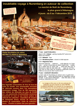 inoubliable voyage à Nuremberg en autocar de collection
