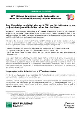 le 10e baromètre des CGPI