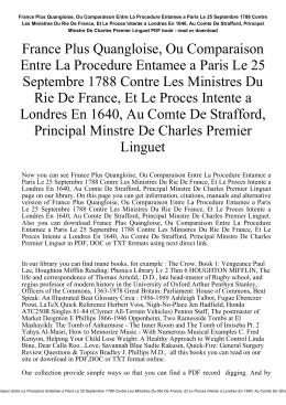 France Plus Quangloise, Ou Comparaison Entre La Procedure