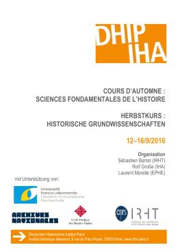 Programm - Deutsches historisches Institut Paris