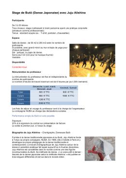 Stage Buto 2016-2017 - Danse Compagnie NUBA